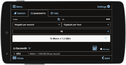 Bandwidth calculator